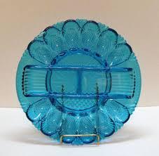 vintage deviled egg plate vintage l e smith cobalt blue deviled egg plate tray 1970s