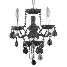 Black Mini Chandelier Black Mini Chandeliers Hanging Lights The Home Depot