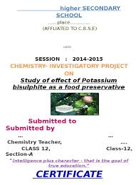 chem project class 12 cbse food preservation general motors