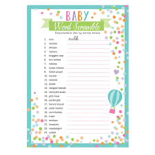 paul u0027s party zone baby shower word games
