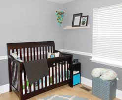 modern owl nursery dark wood furniture black furniture and dark i love the 2 tone grey walls light on top dark on bottom