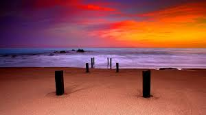 sunset beautiful horizon sea beach colors sky sunset wallpaper