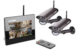 wireless home system with 2 wireless cameras 7 inch