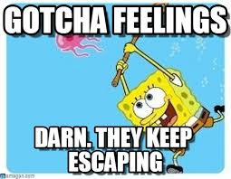 Catching Feelings Meme - gotcha feelings spongebob catching jellyfish meme on memegen