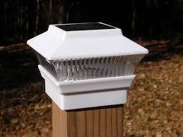 Solar Lights On Fence Posts by Solar Fence Post Lights