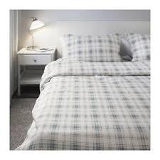 ikea nordruta flannel blue white duvet quilt set comforter cover