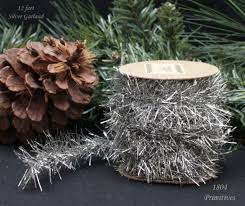 tinsel garland 12 ft silver tinsel garland vintage style christmas feather trees