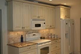 White Kitchen Cabinets White Appliances Antique White Cabinets With White Appliances For The Home
