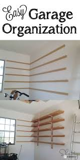 Wood Storage Shelf Designs by 25 Best Diy Garage Shelves Ideas On Pinterest Diy Garage