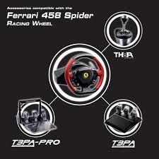 thrustmaster 458 xbox one thrustmaster vg 458 spider racing wheel xbox one