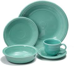 fiestaware 20 piece dinner service turquoise blue 855107