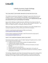 linkedin ca linkedin economic graph challenge rules