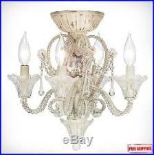 Chandelier Ceiling Fan Light Kit Ceiling Fan Light Kit Pull Chain Crystal Candelabra Antique White Fin