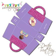 doc mcstuffins inspired bag party treat box 2 birthday party