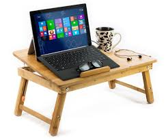 Laptop Bed Desk Tray Aleratec Bamboo Laptop Cooling Stand Up To