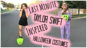 taylor swift halloween last minute diy taylor swift inspired halloween costumes youtube