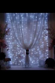 65 drop clear incandescent curtain lights 150 lights white