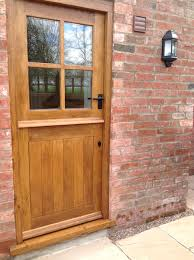 Solid Timber Front Door by Solid Oak External 4 Panel Stable Door Wood Wooden Stable