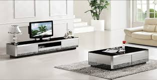 mirror tables for living room interior design coffee table tv cabinet piece set modern design