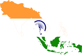 Flag Og India File Flag Map Of Greater India Svg Wikimedia Commons