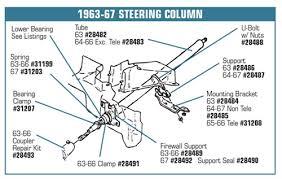 1968 corvette steering column 1 28485 64 67 steering column mount bracket underdash