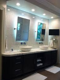 Led Backlit Bathroom Mirror Led Backlit Mirrors Houzz With Regard To Stylish Residence Back