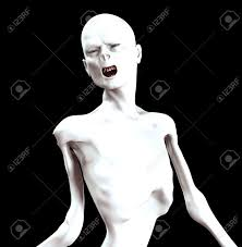 image of a think screaming zombie for halloween stock photo