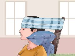 Comfortable Ways To Sleep How To Sleep While Sitting Up 10 Steps With Pictures Wikihow