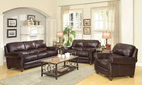 Burgundy Living Room Furniture by Sofa Sets Lockhart 3 Pc Burgundy Brown Leather Sofa Set Coa