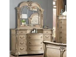 Mirror Chest Of Drawers Davis Direct Monaco Traditional Elegantly Carved Dresser And