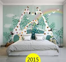 3d wallpaper custom photo wall paper kids u0027 room giraffe green