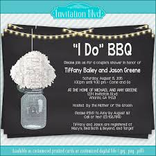Couple S Shower Invitations I Do Bbq Chalkboard Mason Jar Invitation Couples Shower Barbecue