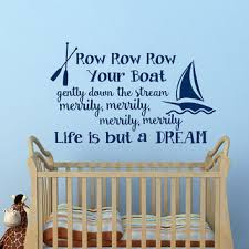 Nursery Rhyme Wall Decals Wall Decal Nursery Row Row Row Your Boat From Fabwalldecals On