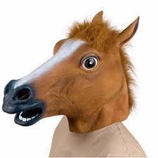 aliexpress com buy creepy unicorn horse animal u0027s head latex mask
