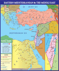 Map Of Mediterranean Sea Tutku Tours Mediterranean Maps Map Of The Eastern