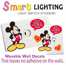 mickey mouse light switch wall sticker totally movable light switch label mickey mouse ebayg wall sticker