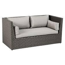 canapé de jardin 2 places giannella moka gris clair salon de