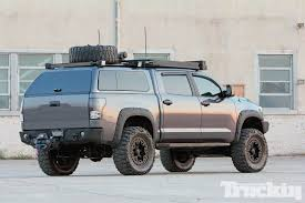 nissan titan camper shell 2011 toyota tundra level 7 truckin magazine