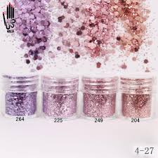 buy 1 jar box 10ml 3d nail light purple pink mix nail glitter
