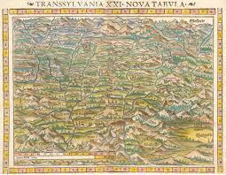 Nova Map Antique Map Of Transsylvania By Munster 1552 Hjbmaps Com