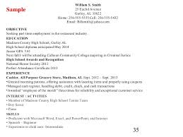example resume for high graduate download resume template
