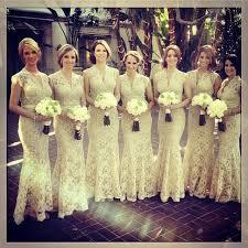 lace bridesmaid dresses gorgeous beige lace bridesmaids dresses by dressla thank you