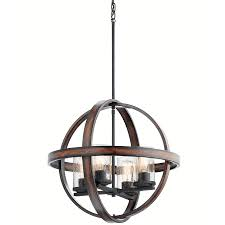 kichler barrington ceiling fan lighting wood and metal light fixtures shop kichler barrington in