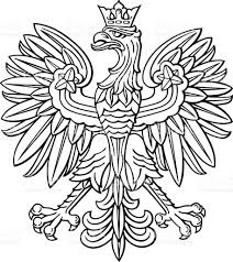 poland eagle polish national coat of arm stock vector art