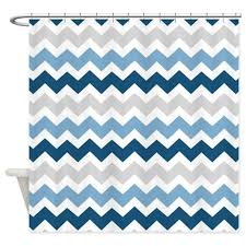 Turquoise And Grey Shower Curtain Navy Blue Grey White Chevron Shower Curtain By Dreamingmindcards