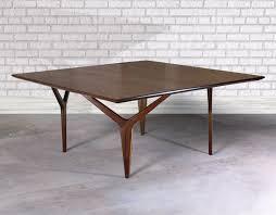 buy a hand crafted walnut coffee table wishbone leg design modern