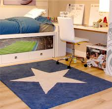 Kid Rug by Rugs Navy Star Rug Lorena Canals Petit Home