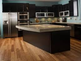 wood floor kitchen espresso kitchen cabinets black kitchen