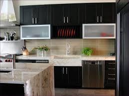 Kitchen Room  White Marble And Glass Backsplash Marble Tile - Backsplash glass panels
