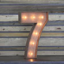 marquee numbers with lights edison marquee number 7 town country event rentals